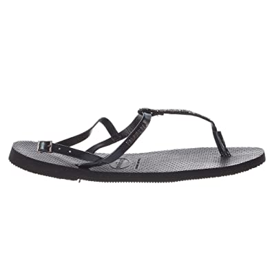 7ddac90a68d4e Havaianas Women s You Riviera Crystal Sandals Black 35-36 M Bra