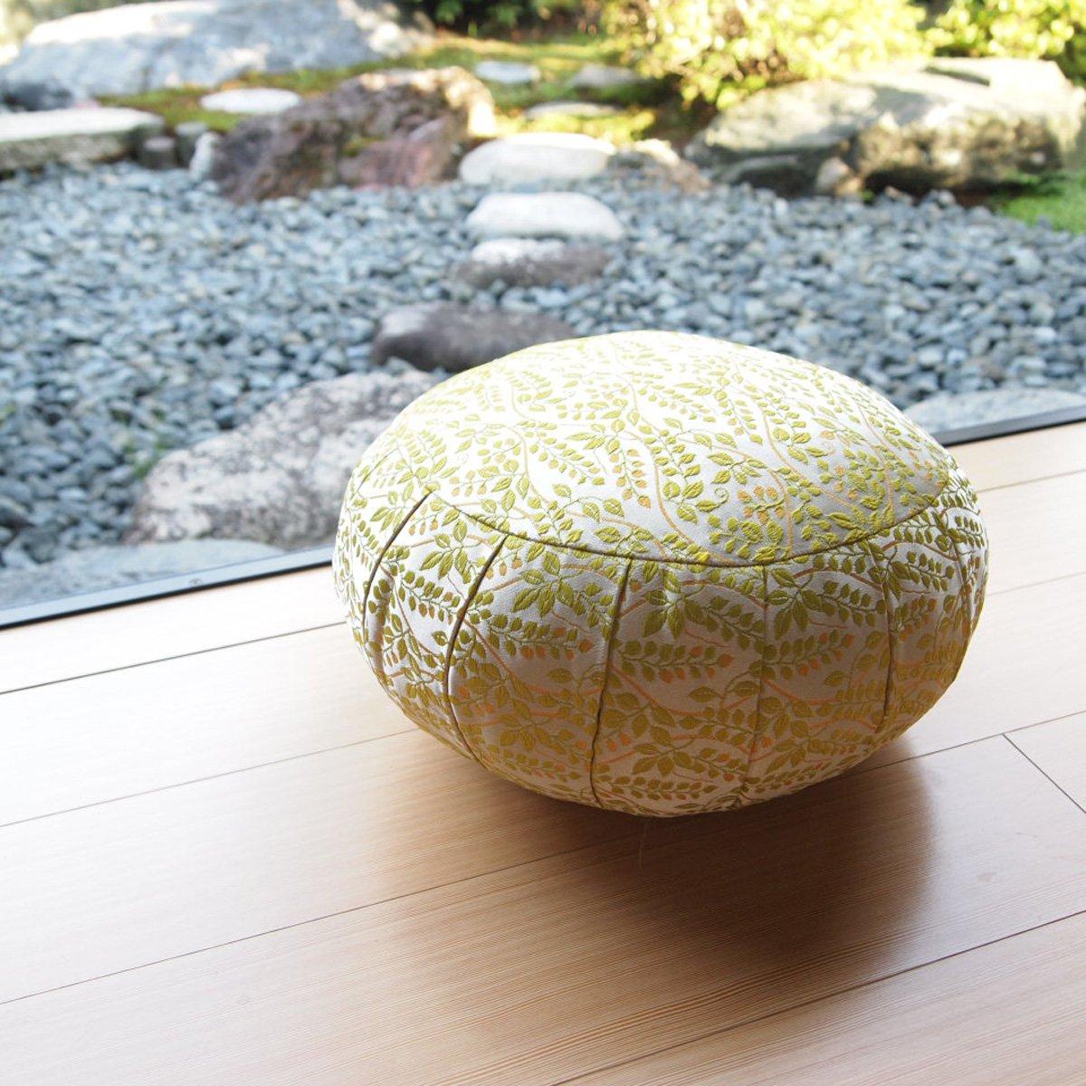 ヨガ座布団 yoga クッション(瞑想)座布座蒲座蒲座禅専用 座禅座布団 日本製 (33cm, ボタニカル 緑) B074HR5FYG 33cm|ボタニカル 緑 ボタニカル 緑 33cm