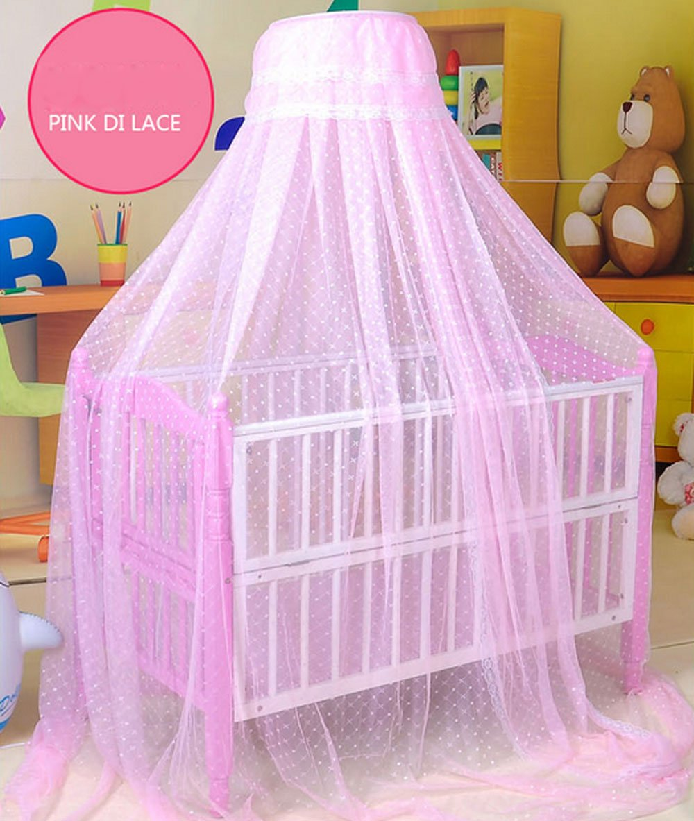 Pesp® Baby Toddler Kid's Bed Dome Cots Mosquito Netting Hanging Dome Floor Fixed Bed Nets Frame Palace-style Crib Bedding Set
