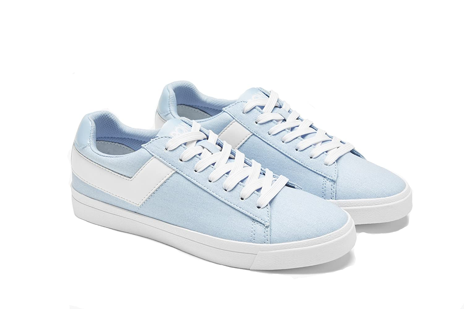 Pony Women's Top-Star-Lo-Core-Canvas Sneakers Shoes B07D1T6J8T 8.5 B(M) US|Ice Blue White