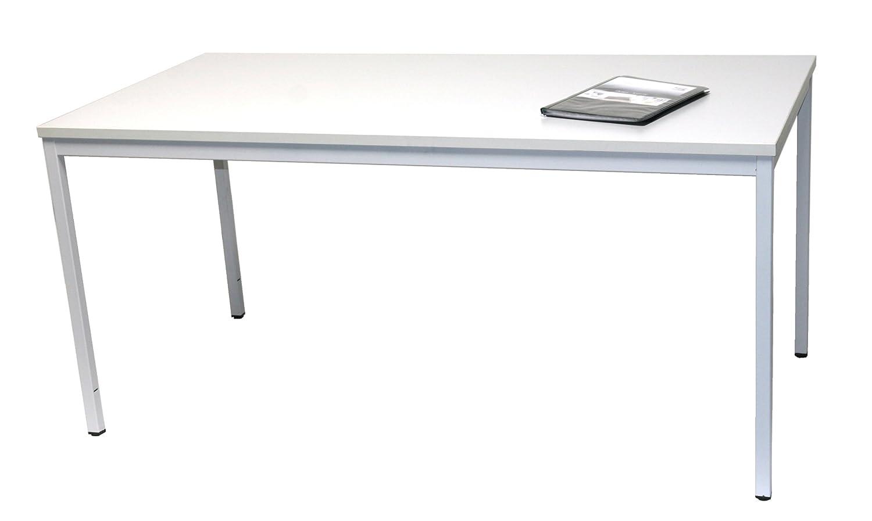 Schreibtisch (Stahl) LxB  180x80 cm, lichtgrau, Marke    Szagato (Arbeitstisch, Computertisch, Bürotisch, Druckertisch) f13f05