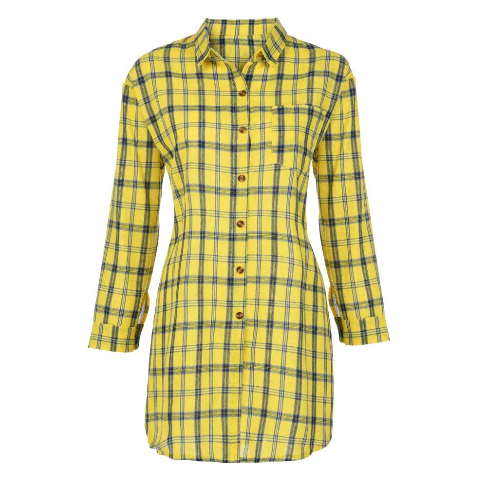 Women Long Sleeve Lattice Striped Shirt Daoroka Ladies Sexy V Neck Button Pocket Jumper Pullover Casual Loose Blouse Fashion Cute Autumn Winter Comfort Tunic T Tops by Daoroka Women Blouse (Image #3)