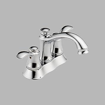 Delta 25710LF Nura Two Handle Centerset Bathroom Faucet, Chrome