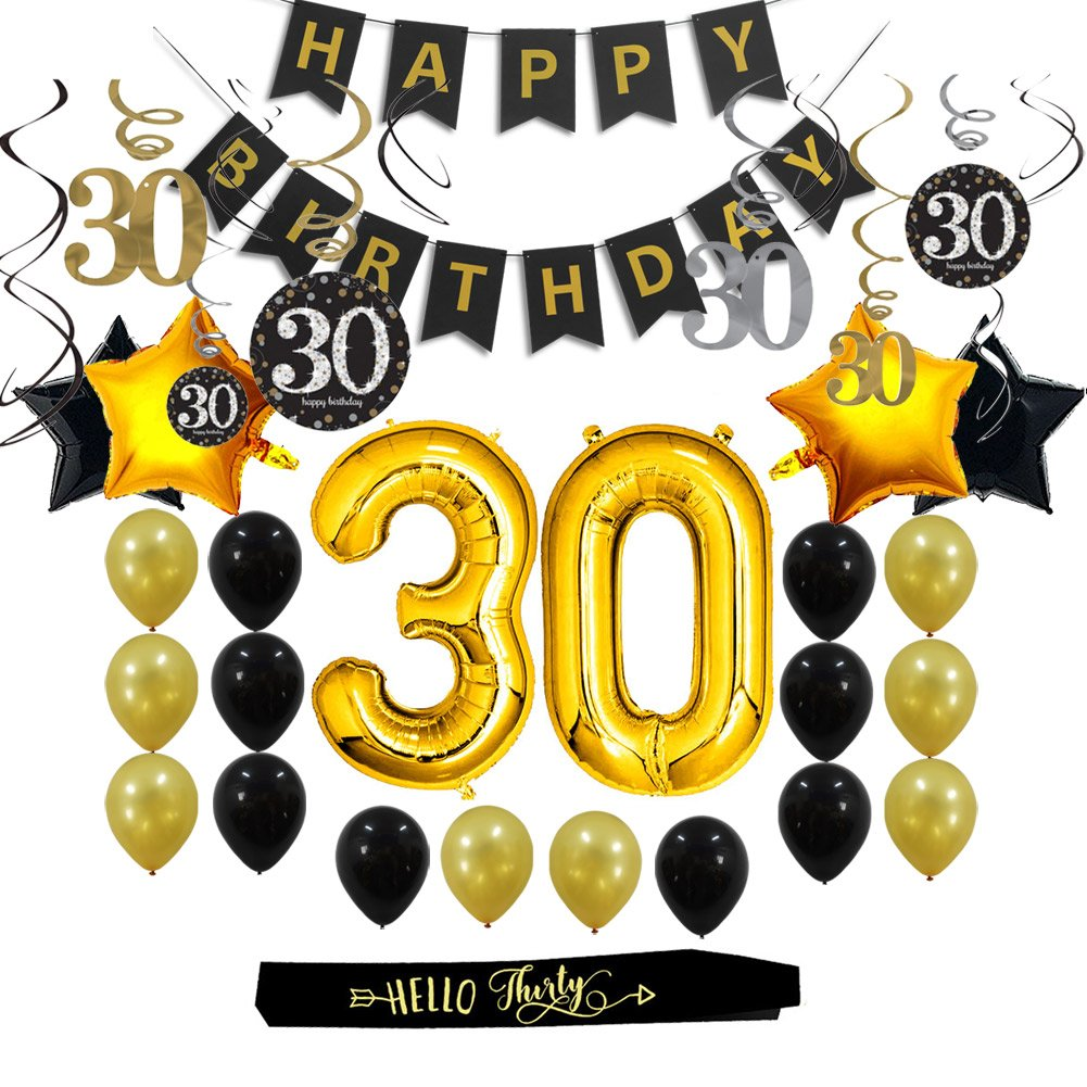 Amazon 30th Birthday Decorations Gifts Party Supplies For Him Her Men Women