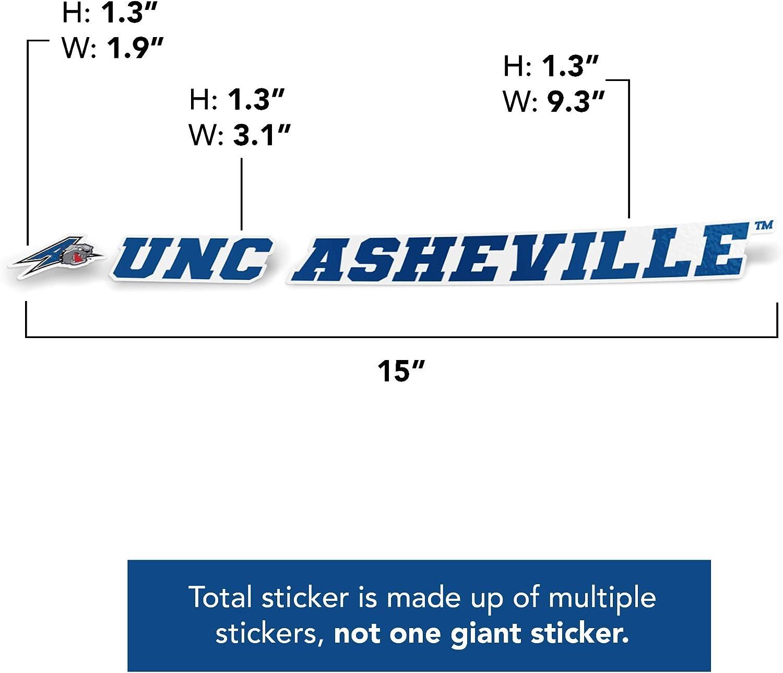 15 Inch Sticker University of North Carolina Asheville UNC Bulldogs NCAA Name Logo Vinyl Decal Laptop Water Bottle Car Scrapbook