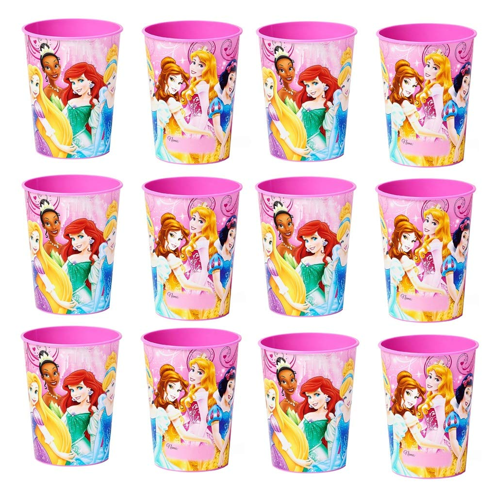 Four-seasonstore All Disney Princess Party Cup Reusable Cups (12x) ~ Birthday Party Supplies Plastic Favors by Four-seasonstore