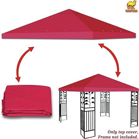 BenefitUSA Replacement Gazebo Canopy Top Patio Pavilion Cover Sunshade Polyester Single Tier Burgundy