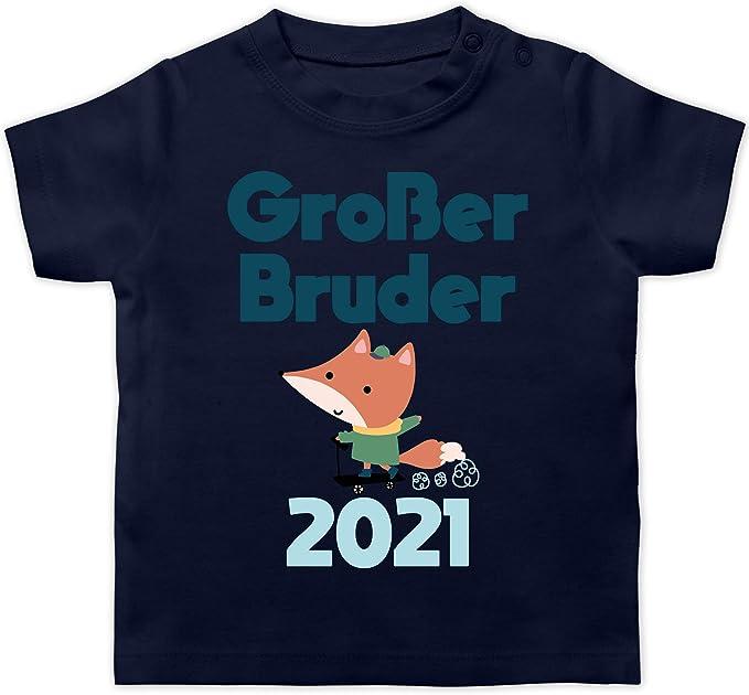 Gro/ßer Bruder Fuchs 2021 Shirtracer Geschwisterliebe Baby Kurzarm Baby-Shirt f/ür Jungen und M/ädchen