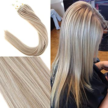 Amazon Com Youngsee 20inch Highlight Blonde Remy Micro Loop Hair