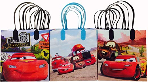 Cars Birthday Party Bags Favor Goodie Gift Candy Loot Bags 25 pcs