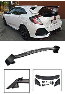 EOS Body Kit Rear Wing Spoiler - For Honda Civic Hatchback 16-Up 2016 2017