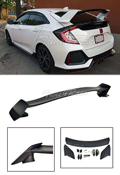 EOS Body Kit Rear Wing Spoiler - For Honda Civic Hatchback 16-Up 2016 2017
