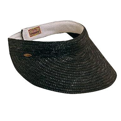 2a59362791e0 SCALA Women s Sewn Braid Visor (Black) at Amazon Women s Clothing store   Visors Headwear