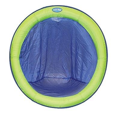 SwimWays Spring Float Papasan - Blue/Lime: Toys & Games