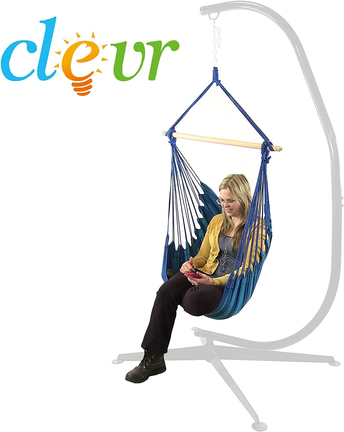New Deluxe 38 Hammock Hanging Patio Tree Sky Swing Chair Outdoor Porch Lounge