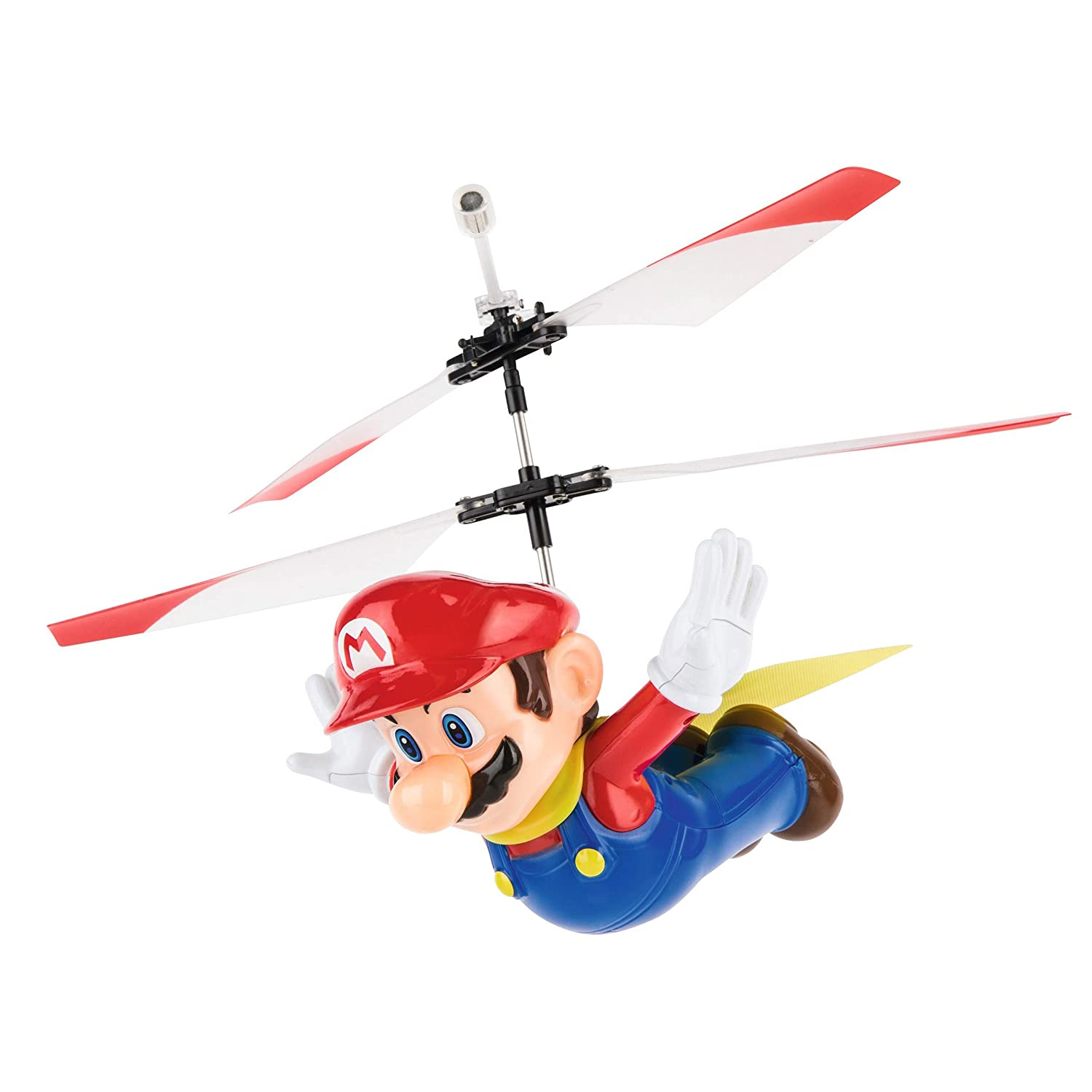 Carrera RC - Officially Licensed Flying Cape Super Mario 2.4GHz 2-Channel  Rechargeable Remote Control Helicopter Drone Toy with Easy to Fly Gyro  System df007f496
