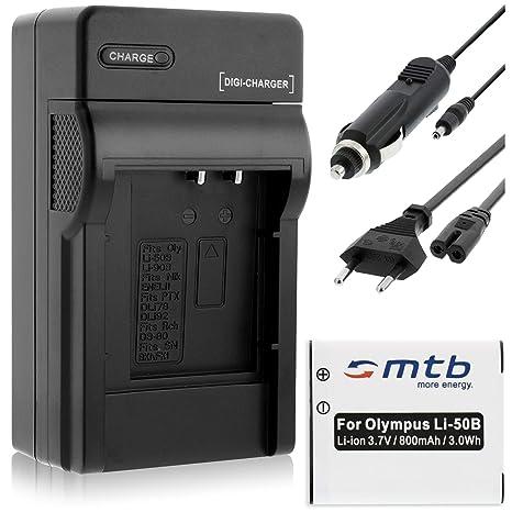 Batería + Cargador (Coche/Corriente) para Olympus Li-50B / XZ-10. / Pentax WG-3 / Ricoh CX5 Ver Lista!