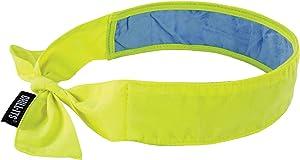 Ergodyne Lime Chill-Its 6700CT CottonPVA Evaporative Cooling Bandana