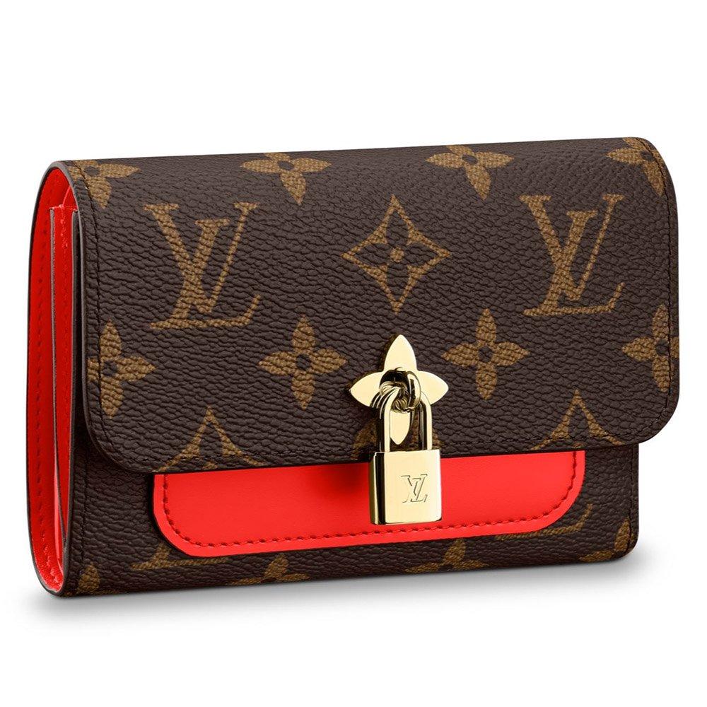 ルイヴィトン LOUIS VUITTON 財布 三つ折り財布 レディース ポルトフォイユフラワー コンパクト モノグラムフラワー M62567 ミニ財布 B07BP6NFQ6