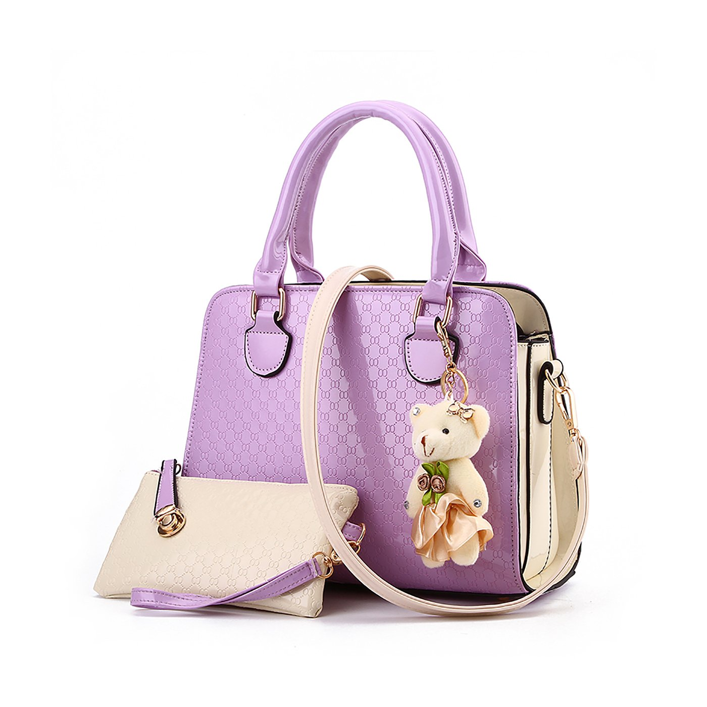 Tisdaini Ladies Sac à Main Sac à Main Sac épaule Messenger Bag Ladies Retro Portefeuille Pendentif Ours KA-KUK6707