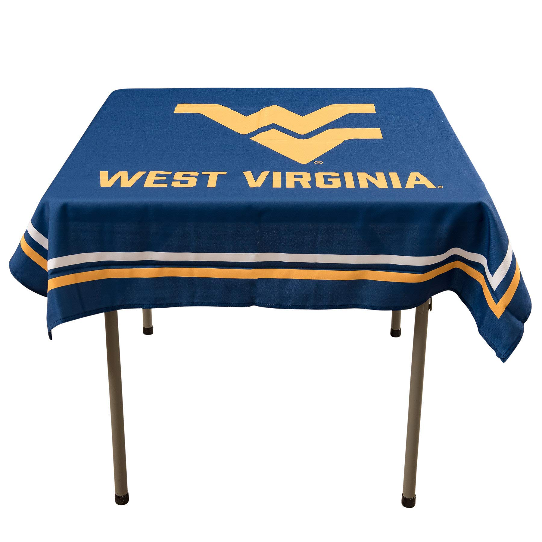 College Flags and Banners Co. West Virginia Mountaineers Logo Tablecloth or Table Overlay