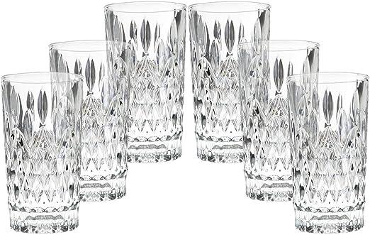 Mehnert /& Mehnert 6er Set Longdrinkgl/äser Kristall ROBUST /& EDEL