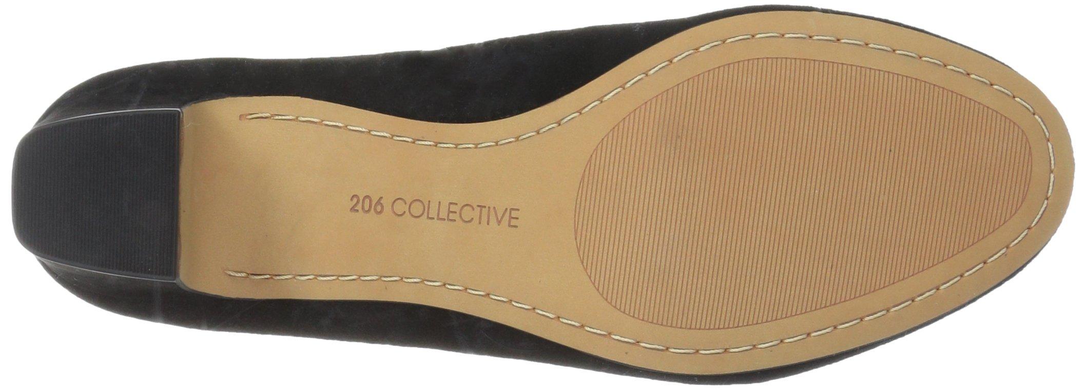 206 Collective Women's Merritt Round Toe Block Heel Low Pump, Black Suede, 7.5 B US by 206 Collective (Image #3)