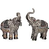 2 x Elefant asiatische Figuren je 16 cm
