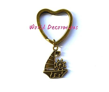 Velero llavero, paseos en bote de regalo, marinero llavero ...