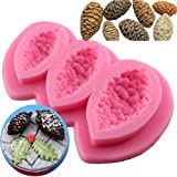 MoldFun Pine Cone Pinecone Silicone Mold for Fondant Chocolate Candy Gum Paste Polymer Clay Soap Resin Kitchen Baking Sugar Craft Cake Cupcake Decorating Tools