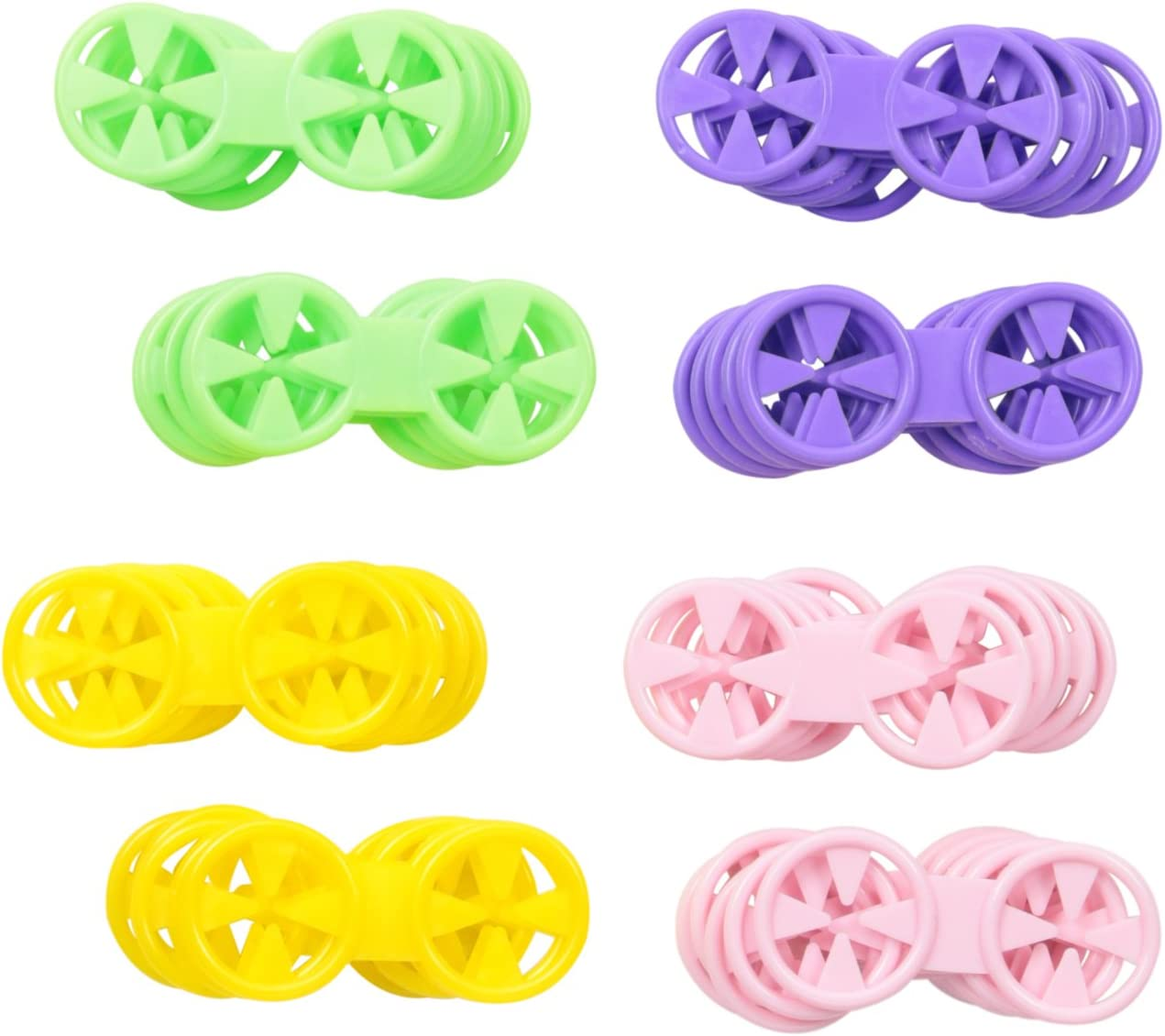 Loc A Sok Sock Locks (Pack of 40 - Purple, Green, Yellow and Pink)