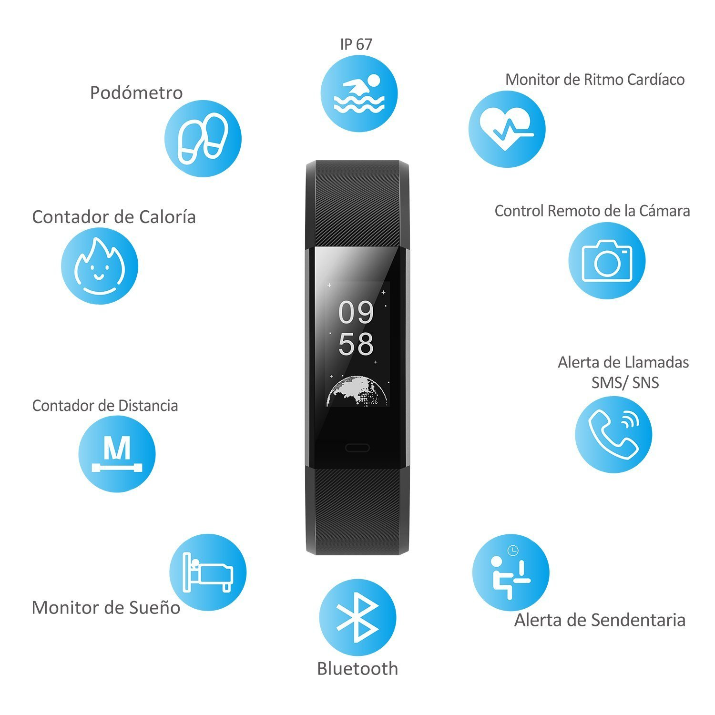 Pulsera de Actividad impermeable IP67 bluetooth 4.0 o más,GPS para ...
