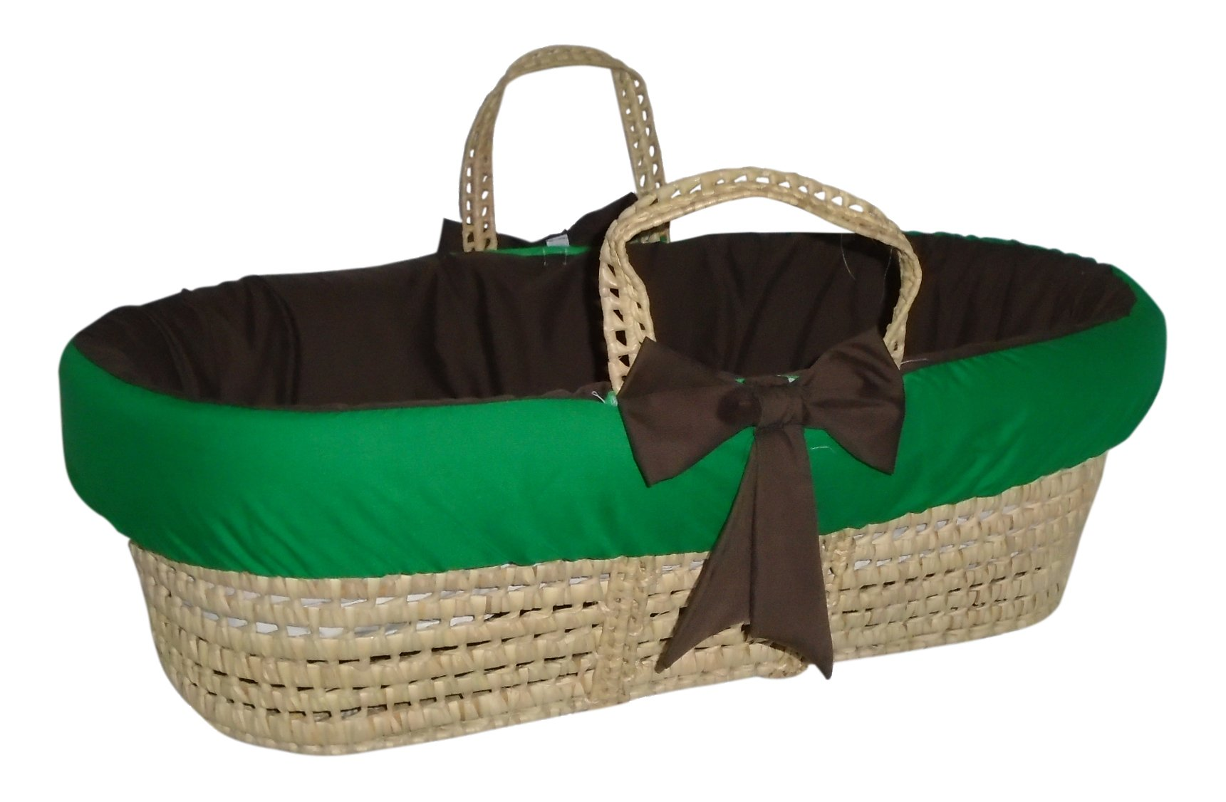 Baby Doll Bedding Reversible Moses Basket Bedding Set, Brown/Green by BabyDoll Bedding