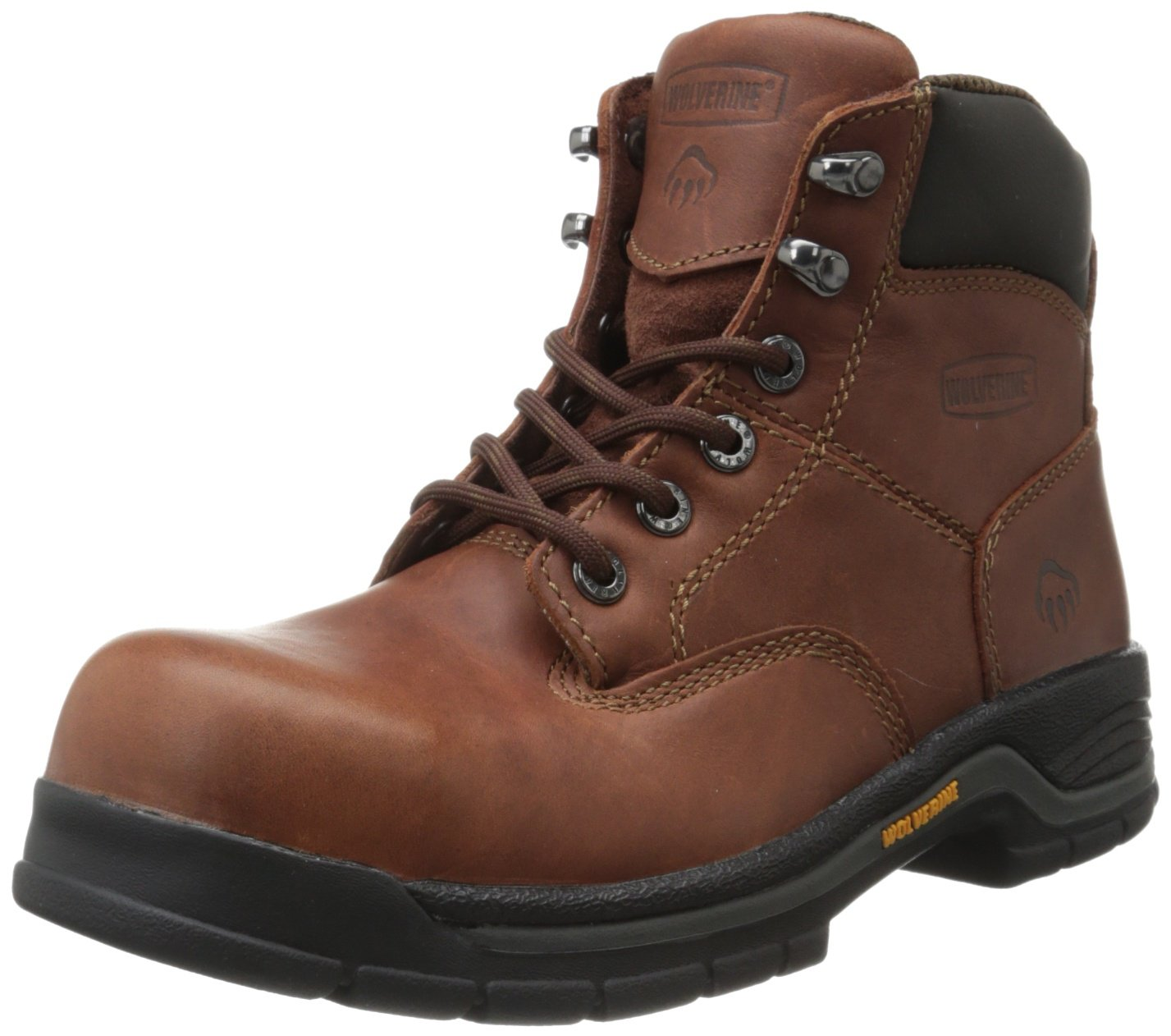 Wolverine Women's W04675 Harrison Safety Toe Work Boot, Brown, 8.5 M US