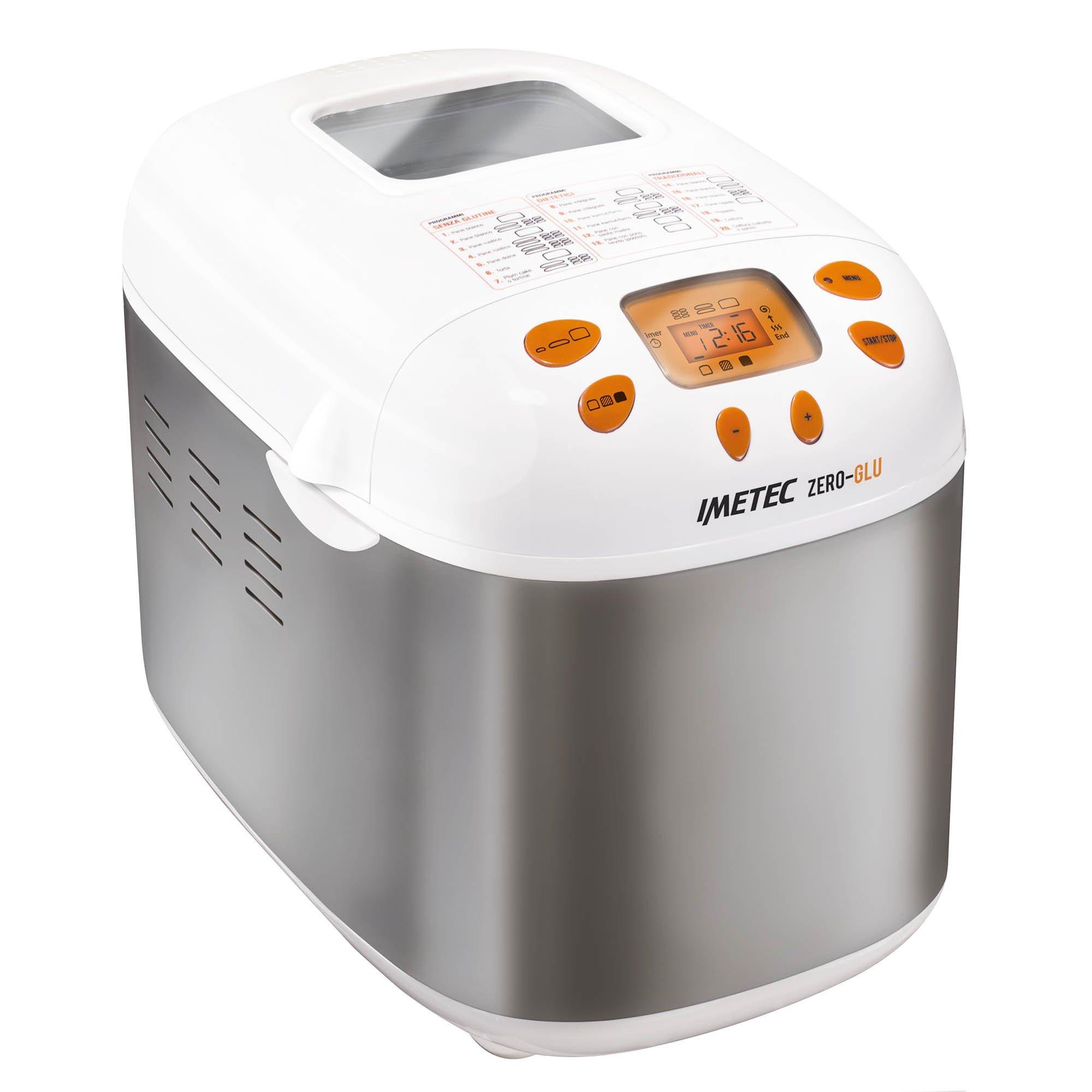 IMETEC Zero Glu Panificadora, 920 W, Blanco y Naranja product image