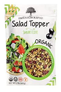naturSource Organic GMO-free Vegan Gluten Free No Artificial Ingredients Smart Life Salad Topper 2 lbs