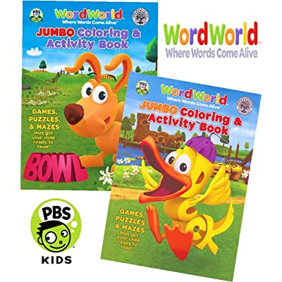 WordWorld Jumbo Coloring and Activity Book Set (2 Coloring Books): Toys & Games