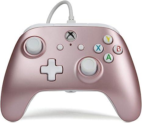 PowerA - Mando Con Cable Mejorado, Color Oro Rosa (Xbox One): Amazon.es: Videojuegos