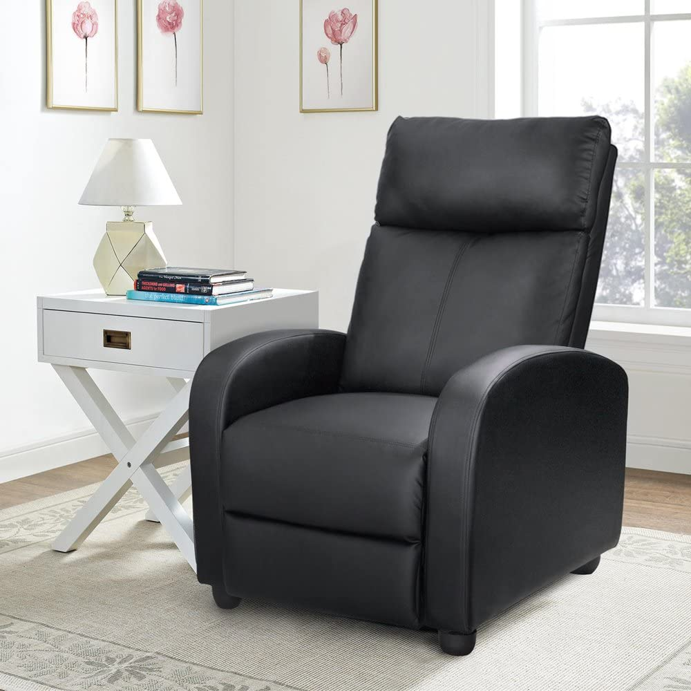 Homall Single Recliner Chair nice leather padded