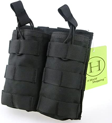 OneTigris Tactical Top Open Triple Pistol Magazine Pouch Hunting Molle Tools Bag