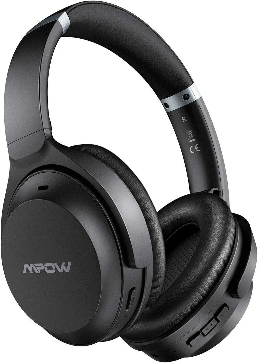 Mpow H12 IPO Auriculares con Cancelación Activa de Ruido, Bluetooth5.0, CVC 8.0, 40hrs de Reproducir, Auriculares Diadema Bluetooth Over Ear con Tipo ...