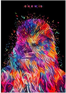 Star Wars Full Drill Diamond Painting by Number Kits, 5D DIY Diamond Embroidery Crystal Rhinestone Cross Stitch Handmade Mosaic Paintings Arts Craft for Home Wall Decor,Chewie (30X40CM)