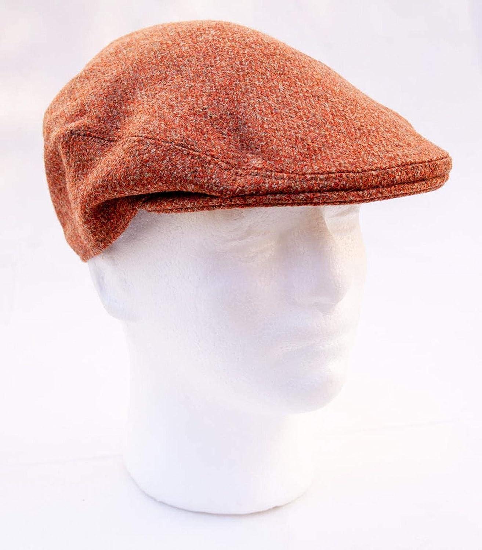 Lawrence /& Foster Yorkshire Hand Tailored Tweed Garforth Flat Cap Burnt Orange Made in Britain