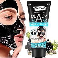 PINPOXE Máscara Exfoliante con Carbón de Bambú, Negra, 60 ml