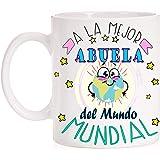 Taza para Abuelas. A la Mejor Abuela del Mundo Mundial del Planeta. Taza Regalo Divertida con Caja Decorativa. Ideal Regalo para el Dia de Las Abuelas y Abuelos.