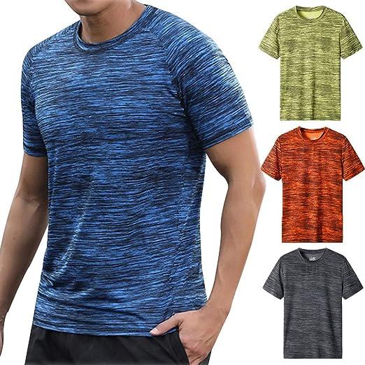 1ddd85dc Amazon.com: Hmlai Clearance Men T Shirt Fashion Casual Round Neck ...