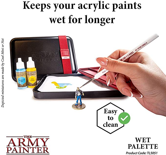 The Army Painter Wet Palette and Hydro Pack Bundle Painting Tool for Miniature Painting with Place for Miniature Paint Brushes and Complete Refill Pack