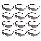 AmazonCommercial Safety Glasses (Gray/Black), Anti-Fog, 12-pack