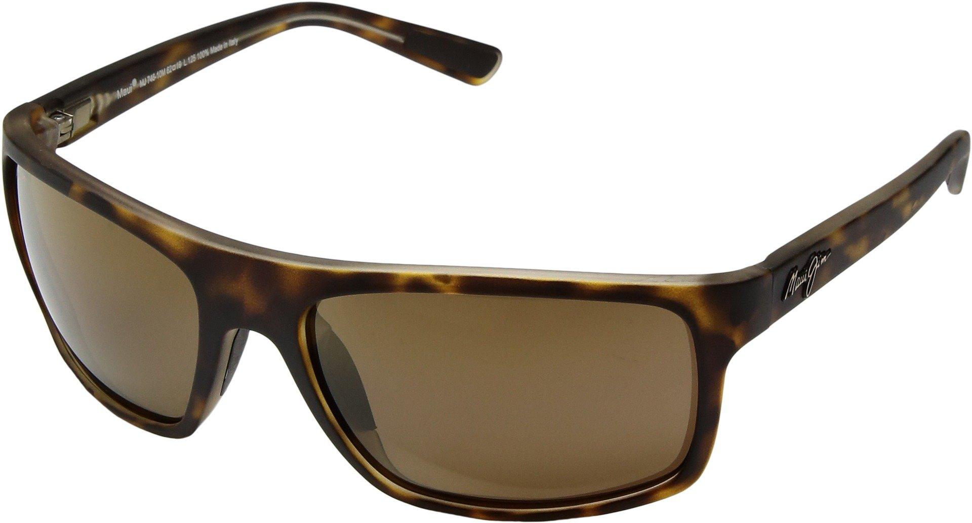 Maui Jim Byron Bay H746-10M | Polarized Matte Tortoise Wrap Frame Sunglasses, HCL Bronze Lenses, with Patented PolarizedPlus2 Lens Technology by Maui Jim