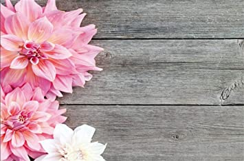 Amazon Csfoto 6x4ft Background Blooming Pink Flower On Rustic